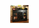 Cabernet Hills Wine and Bar Cabinet - Worn Black - Howard Miller