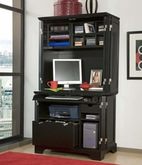 Cabinet and Hutch in Ebony - Bedford - 5531-190