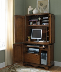 Cabinet and Hutch in Oak - Country Casual - 5538-190