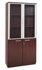Cabinet with Doors in Mahogany - Mayline Office Furniture - VHCMAH