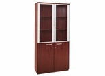Cabinet with Doors in Sierra Cherry - Mayline Office Furniture - VHCCRY