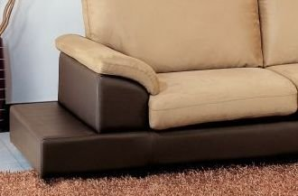 Cabo Microsuede Sectional Sofa with Ottoman in Mocha - Abbyson Living - CI-1236-MOC