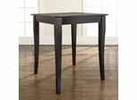 Cabriole Leg Pub Table in Black Finish - Crosley Furniture - KD20001BK