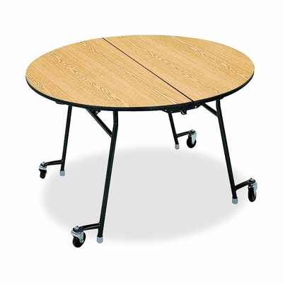 Cafeteria Round Tables - Natural Maple/Black - HONRN2948DDP