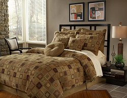 Cal King Size Comforter Set - 14 Piece Set in Hopscotch Pattern - 80EQ714HOP