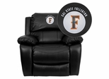 Cal State Fullerton Titans Leather Rocker Recliner - MEN-DA3439-91-BK-45004-EMB-GG