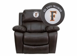 Cal State Fullerton Titans  Leather Rocker Recliner - MEN-DA3439-91-BRN-45004-EMB-GG
