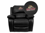 Caldwell College Cougars Embroidered Black Leather Rocker Recliner - MEN-DA3439-91-BK-41012-EMB-GG