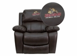Caldwell College Cougars Embroidered Brown Leather Rocker Recliner  - MEN-DA3439-91-BRN-41012-EMB-GG