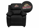 Caldwell College Cougars Leather Kids Recliner - BT-7985-KID-BK-LEA-41012-EMB-GG