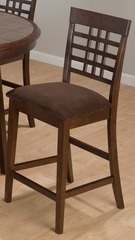 Caleb Brown Barstool with Microfiber Seat - Set of 2 - 976-BS515KD