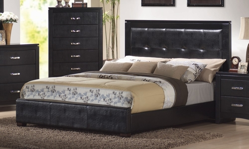 California King Size Bed - Dylan California King Size Bed in Black - Coaster - 201401KW