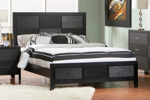 California King Size Bed - Grove California King Size Bed in Black - Coaster - 201651KW