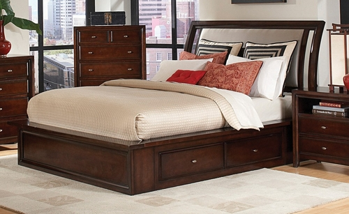 California King Size Bed - Nadine California King Size Bed in Dark Mahogany - Coaster - 201331KW