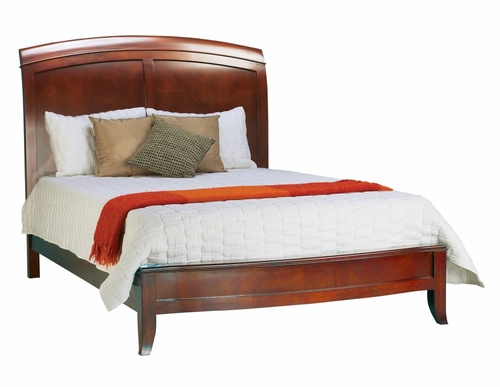 California King Size Sleigh Low Profile Bed with Wood Headboard - Brighton - Modus Furniture - BR15S6