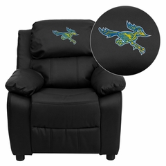 California State University - Bakersfield Roadrunner Leather Kids Recliner - BT-7985-KID-BK-LEA-41013-EMB-GG