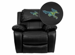 California State University - Bakersfield Roadrunner Leather Rocker Recliner  - MEN-DA3439-91-BK-41013-EMB-GG