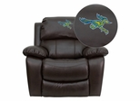 California State University - Bakersfield Roadrunner Leather Rocker Recliner  - MEN-DA3439-91-BRN-41013-EMB-GG