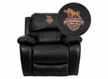 California State University - Dominguez Hills Toros Leather Rocker Recliner  - MEN-DA3439-91-BK-41015-EMB-GG