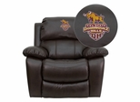 California State University - Dominguez Hills Toros Rocker Recliner  - MEN-DA3439-91-BRN-41015-EMB-GG