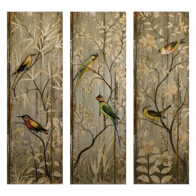 Calima Bird Wall Decor (Set of 3) - IMAX - 27626-3