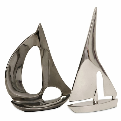 Calisto Sailboat Statuary (Set of 2) - IMAX - 60077-2