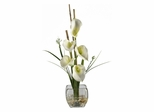 Calla Lilly Liquid Illusion Silk Flower Arrangement in Cream - Nearly Natural - 1118-CR