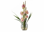 Calla Lilly Liquid Illusion Silk Flower Arrangement in Pink - Nearly Natural - 1118-PK