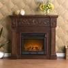 Calvert Carved Espresso Electric Fireplace - Holly and Martin