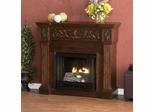 Calvert Carved Espresso Gel Fireplace - Holly and Martin