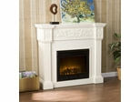 Calvert Carved Ivory Electric Fireplace - Holly and Martin