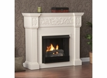 Calvert Carved Ivory Gel Fireplace - Holly and Martin