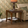 Cambria Brown Cherry Slate End Table - Holly and Martin