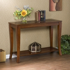 Cambria Brown Cherry Slate Sofa Table - Holly and Martin