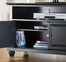"Cambridge 42"" TV Stand in Black Finish - Crosley Furniture - KF10003DBK"