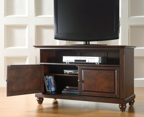 "Cambridge 42"" TV Stand in Vintage Mahogany Finish - Crosley Furniture - KF10003DMA"