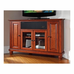"Cambridge 48"" Corner AroundSound TV Stand in Classic Cherry - CROSLEY-KF1006DASCH"
