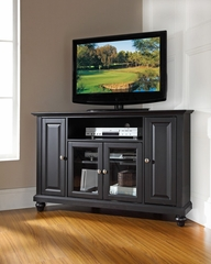 "Cambridge 48"" Corner TV Stand in Black - CROSLEY-KF10006DBK"