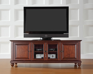 "Cambridge 60"" Low Profile TV Stand in Vintage Mahogany - CROSLEY-KF10005DMA"