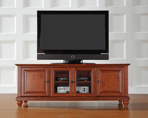 "Cambridge 60"" Low ProfileTV Stand in Classic Cherry - CROSLEY-KF10005DCH"