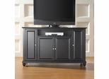 "Cambridge 60"" TV Stand in Black Finish - Crosley Furniture - KF10001DBK"