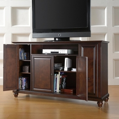 "Cambridge 60"" TV Stand in Vintage Mahogany Finish - Crosley Furniture - KF10001DMA"