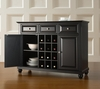 Cambridge Buffet Server / Sideboard Cabinet with Wine Storage in Black Finish - Crosley Furniture - KF42001DBK