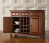 Cambridge Buffet Server / Sideboard Cabinet with Wine Storage in Classic Cherry Finish - Crosley Furniture - KF42001DCH
