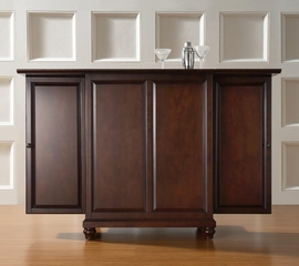 Cambridge Expandable Bar Cabinet in Vintage Mahogany Finish - Crosley Furniture - KF40001DMA