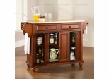 Cambridge Natural Wood Top Kitchen Island in Classic Cherry Finish - Crosley Furniture - KF30001DCH