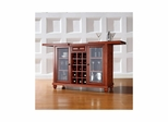 Cambridge Sliding Top Bar Cabinet in Classic Cherry - CROSLEY-KF40002DCH