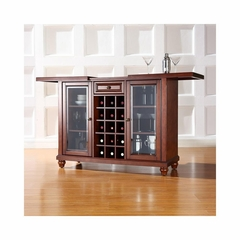 Cambridge Sliding Top Bar Cabinet in Vintage Mahogany - CROSLEY-KF40002DMA