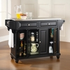 Cambridge Stainless Steel Top Kitchen Island in Black Finish - Crosley Furniture - KF30002DBK