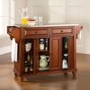 Cambridge Stainless Steel Top Kitchen Island in Classic Cherry Finish - Crosley Furniture - KF30002DCH